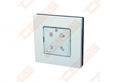 Danfoss Icon patalpos termostatas, 230V, su ekranu programuojamas, ant sienos 86x86