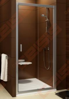 Stumdomos dušo durys RAVAK BLIX BLDP2-110 su blizgiu profiliu ir skaidriu stiklu