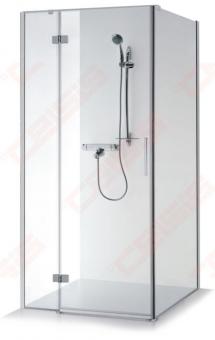 Dušo kabina Baltijos Brasta NINA PLIUS 100 x 100 x 1900 pilkai tonuotas stiklas