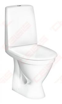 WC pastatomas Gustavsberg Skandic 6410, 2/4L nuleidimas, horizontalus nuotakas su minkštu dangčiu