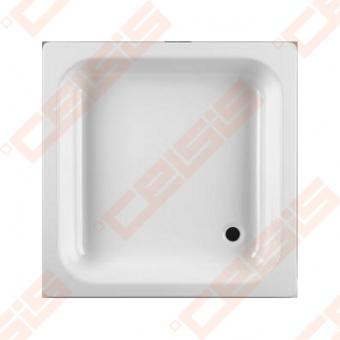 Dušo padėklas JIKA SOFIA 70x70, plieninins baltas
