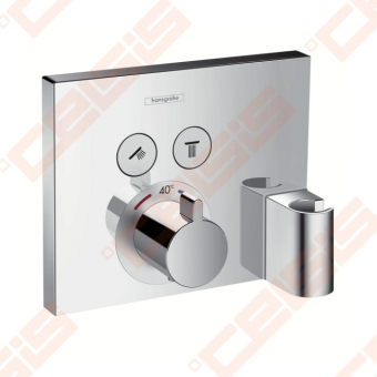 Dekoratyvinė dalis termostatiniam dušo maišytuvui HANSGROHE Select dviems taškams su laikikliu