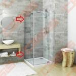 Šoninė sienelė GBN/800 blizgiu profiliu ir skaidriu stiklu. Montuojama su dušo durimis GDO1N.