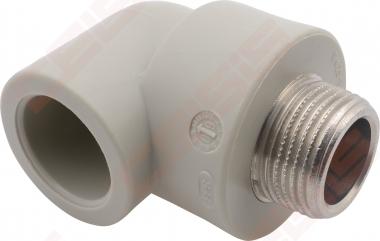"""Alkūnė FV-PLAST PPR 90° Dn20 x 1/2"""" (su metaliniu sriegiu)"""