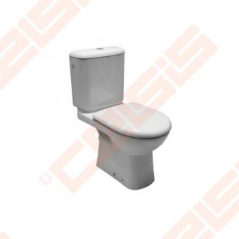 Pastatomas unitazas DEEP by JIKA  horizontalus nuotakas, su Dual Flush nuleidimo mechanizmu, apatiniu vandens įvadu