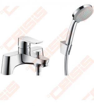 Maišytuvas voniai Hansgrohe Metris iš viršaus su dušo komplektu