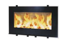 Plieninis židinio ugniakuras HWAM I 30/65 (1100x619x470); 10kW