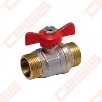 "Žalvarinis chromuotas (matinis) SLOVARM KE-250 rutulinis ventilis Dn1"""