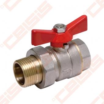 "Žalvarinis chromuotas (matinis) SLOVARM KE-280 rutulinis ventilis Dn1/2"""