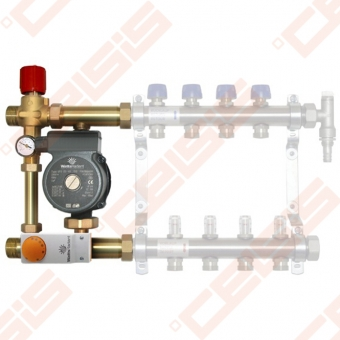 Pamaišymo mazgas WATTS ISOTHERM grindininiam šildymui (siurblys Wilo RS 25/6-3)
