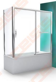 Šoninė vonios sienelė ROTH PXVB/75 su brillant spalvos profiliu ir skaidriu stiklu