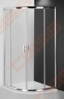 Pusapvalė dušo kabina ROTH PROXIMA LINE PXR2N/90 su dviejų elementų slankiojančiomis durimis, brillant spalvos profiliu ir skaidriu stiklu