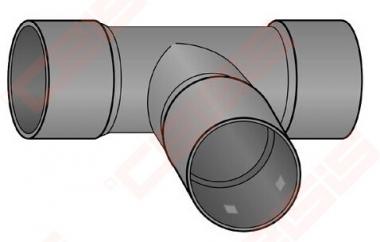 Trišakis drenažiniam vamzdžiui FRӒNKISCHE DN50 x 50 x 50