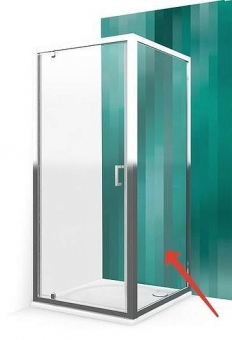 Siena šoninė Roth LLB/700 blizgiu profiliu, skaidriu stiklu. Skirta montuoti su durimis Roth LLDO1, LLDO2, LLD2 arba LLD4.