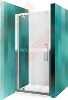 Varstomos dušo durys ROTH ECLUSIVE LINE ECDO1N/900 blizgaus chromo (Brilliant) spalvos profilis + skaidrus (Transparent) stiklas
