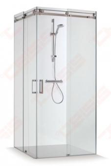 Dušo kabina Baltijos Brasta VESTA 90 x 90 x 200, skaidrus stiklas