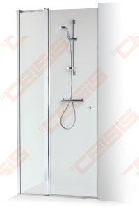 Dušo durys Baltijos Brasta Greta Plius 90x1900, skaidrus  stiklas