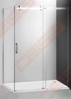 Slankiojančios dušo durys ROTH AMBIENT LINE AMD2/1200 skirtos montuoti į nišą  su sidabro spalvos profiliu ir skaidriu stiklu