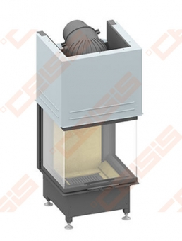 Plieninis židinio ugniakuras SCHMID EKKO U 55(45)57 H (545 x 1380 x 518); 4,3-9,1kW