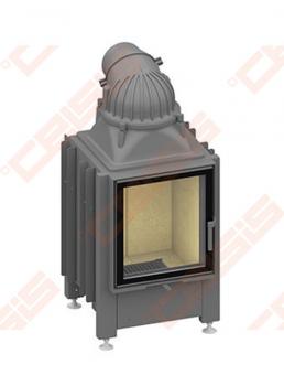 Plieninis židinio ugniakuras SCHMID LINA TV 5557 S (630 x 1215 x 500); 3,4-7,4kW