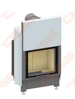Plieninis židinio ugniakuras SCHMID LINA 5551 H (640 x 1260 x 520); 3,4-7,4kW