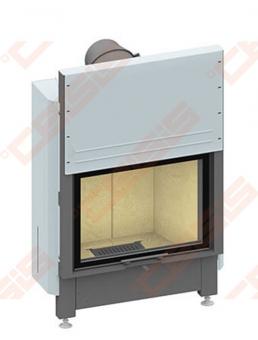 Plieninis židinio ugniakuras SCHMID LINA 7345 H (820 x 1040 x 520); 3,2-10,9kW