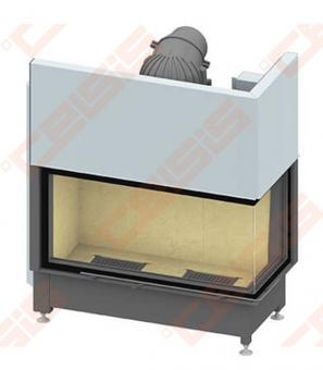 Plieninis židinio ugniakuras SCHMID EKKO R 100(45)45 H (1060 x 1140 x 530); 4,1-9,4kW, vientisas stiklas