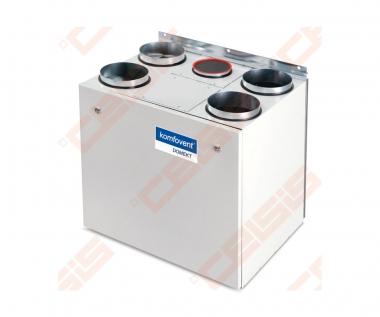 Įrenginys su sorbciniu rotaciniu šilumogrąžiu Domekt-R-400-V-AZ vertikalus kairinis BE PULTO
