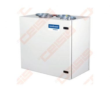 Įrenginys su rotaciniu šilumogrąžiu Domekt-R-500-V-C6 vertikalus dešininis BE PULTO