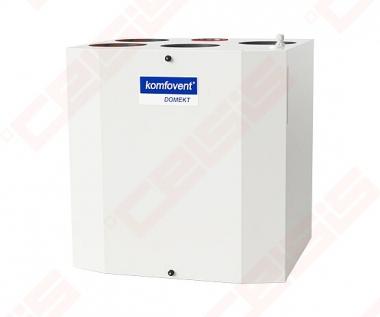 Įrenginys su rotaciniu šilumokaičiu Domekt-R-300-V-C6 vertikalus dešininis, BE PULTO