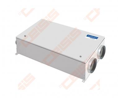 Įrenginys su priešsroviniu plokšteliniu šilumogrąžiu Domekt-CF-250-F-C6 palubinis kairinis BE PULTO