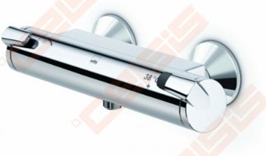Termostatinis dušo maišytuvas ORAS Optima su patogiomis suimti rankenėlėmis