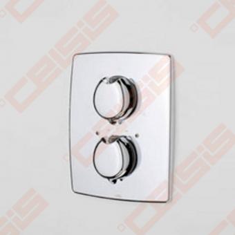Sienoje montuojamo termostatinio vonios ir dušo maišytuvo išorinė dekoratyvinė dalis ORAS Optima