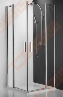 Vieno elemento varstomos dušo durys ROTH TOWER LINE TDO1/100 su brillant spalvos profiliu ir skaidriu stiklu