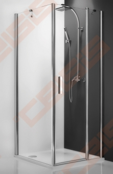 Šoninė dušo sienelė ROTH TOWER LINE TB/90 su brillant spalvos profiliu ir skaidriu stiklu