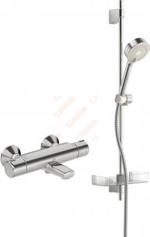 Vonios ir dušo termostatinis maišytuvas ORAS Nova su dušo komplektu