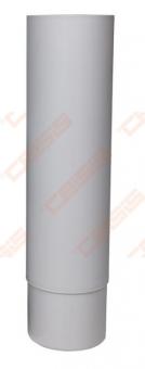 Vertikalusis-Ross vamzdis VILPE D125 šviesiai pilkas