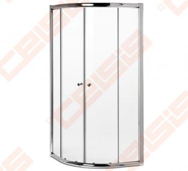 pusapval du o kabina gustavsberg nq nautic 90x90 su chromuotu profiliu ir skaidriu stiklu. Black Bedroom Furniture Sets. Home Design Ideas