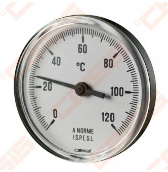 Termometras bimetalinis D80/50 DN15 0-120*
