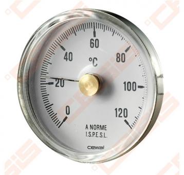 Termometras pridedamas D63, 0-120*