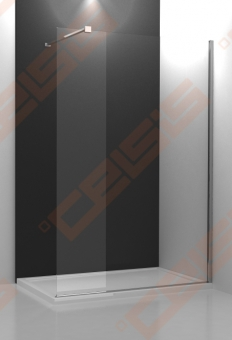 Dušo kabina ROTH WALK IN LINE WALK G/1200 su brillant spalvos profiliu ir skaidriu stiklu