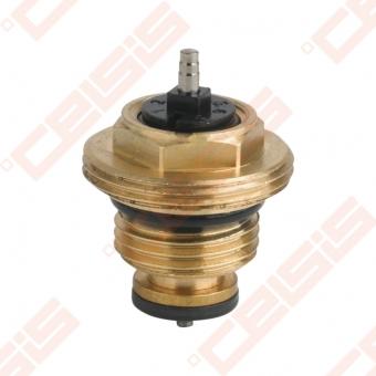"""Termostatinis tiesus ventilis (spalva: bronza) CARLO POLETTI A353; Išorė / Išorė; 1/2"""" x (M30 x 1,5)"""