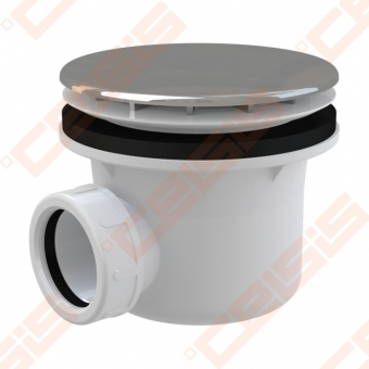 Dušo padėklo sifonas ALCA PLAST su chromuotu ventiliu, 90 mm (28 l/min)