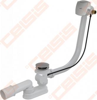 Sifonas voniai ALCA PLAST su reguliuojama perpylimo sistema, metalinis su vandens pripildymu