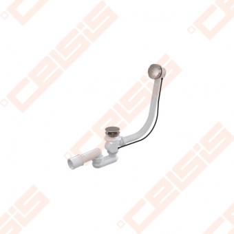 Sifonas voniai ALCA PLAST su reguliuojama perpylimo sistema, prailgintas, chromuotas, akmens masės voniai, su vandens pripildymu