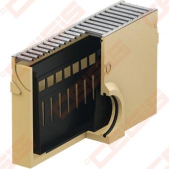 Polimerbetoninė ACO Euroline įtekėjimo dėžė su cinkuotomis grotelėmis; Ilgis - 500 mm