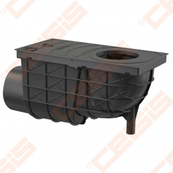 Lietaus surinkimo trapas ALCA PLAST 300x155/110, horizontalus, juodas