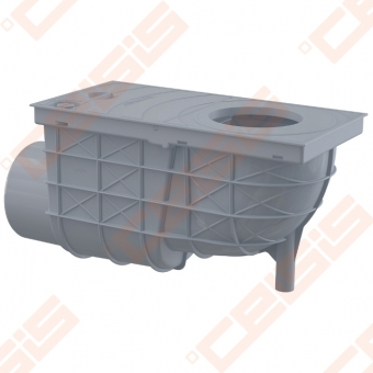 Lietaus surinkimo trapas ALCA PLAST 300x155/110, horizontalus, pilkas