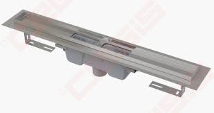 Dušo latakas Alca plast APZ1001-750, nerūdijančio plieno vert