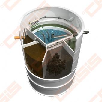 Biologinis buitinių nuotekų valymo įrenginio komplektas AUGUST AT-8, našumas 0,81 m³/d, orapūtė komplekte